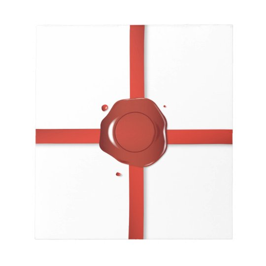Wax Seal And Red Ribbon Notepad