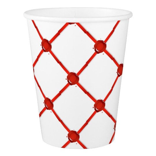 Wax Seal And Red Ribbon Paper Cup