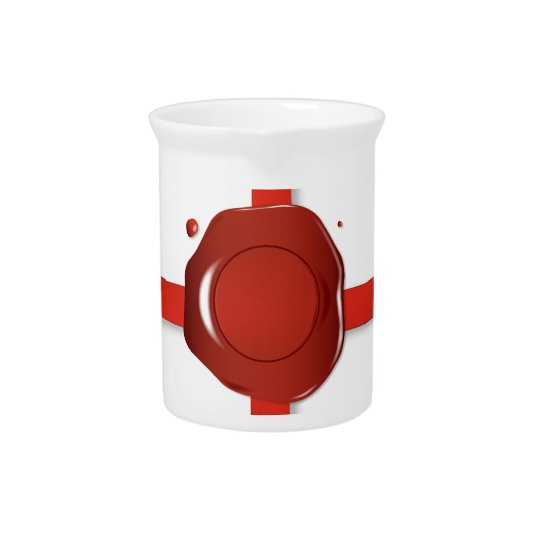 Wax Seal And Red Ribbon Pitcher
