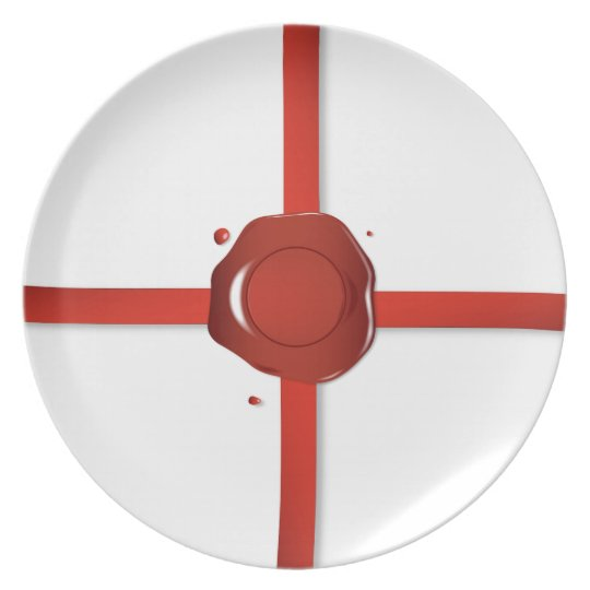 Wax Seal And Red Ribbon Plate