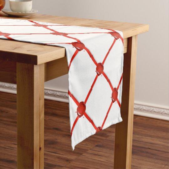 Wax Seal And Red Ribbon Short Table Runner