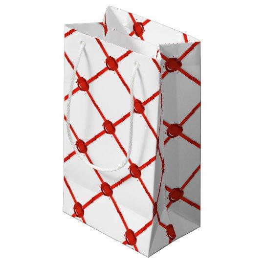Wax Seal And Red Ribbon Small Gift Bag