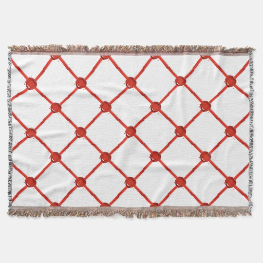 Wax Seal And Red Ribbon Throw Blanket
