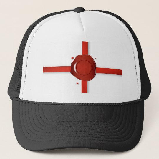 Wax Seal And Red Ribbon Trucker Hat