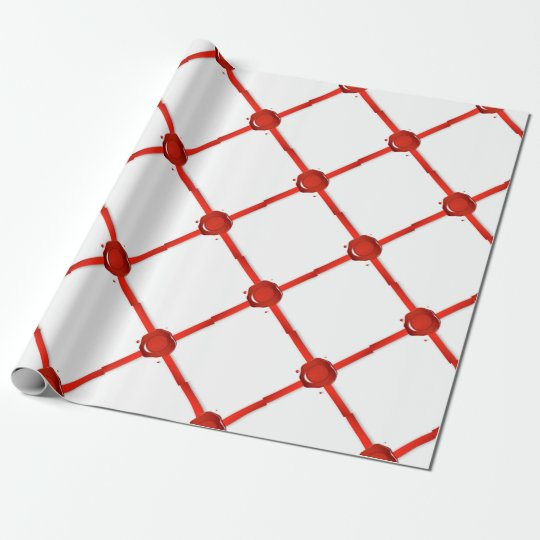 Wax Seal And Red Ribbon Wrapping Paper