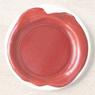 Wax Seal Coaster - Red
