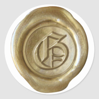Wax Seal Monogram - Gold - Old English - Letter G
