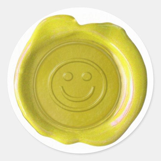 Wax Seal - Yellow - Smiley Face -
