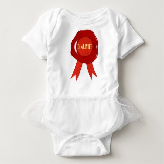 Wax Stamp Guaranree Baby Bodysuit