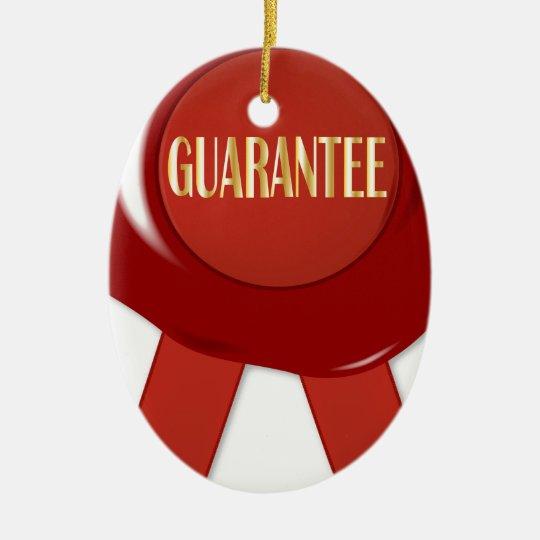 Wax Stamp Guaranree Ceramic Ornament