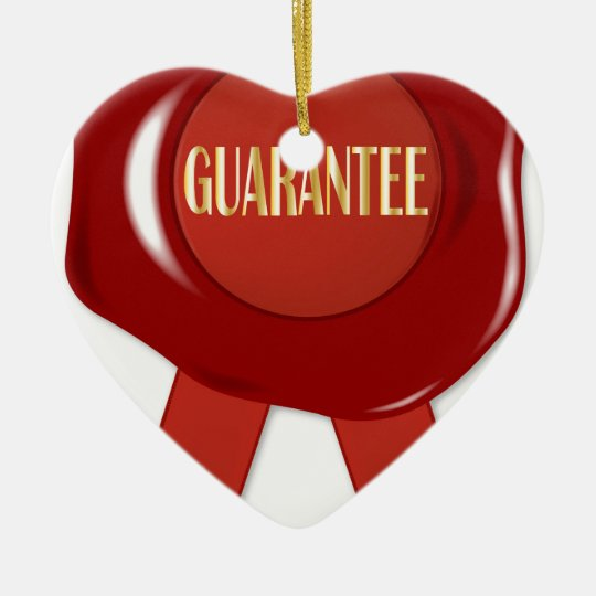 Wax Stamp Guaranree Ceramic Ornament