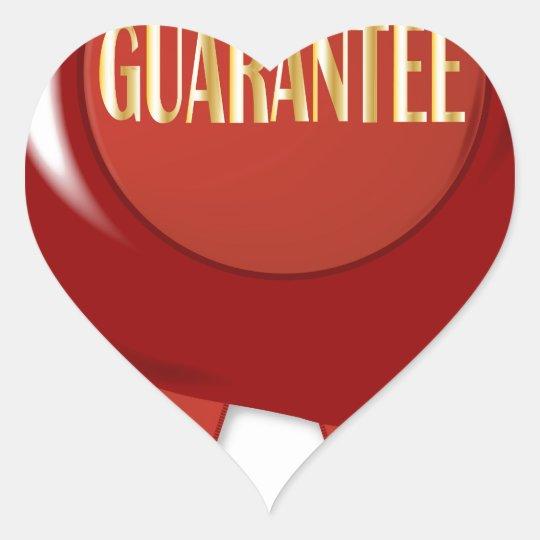 Wax Stamp Guaranree Heart Sticker