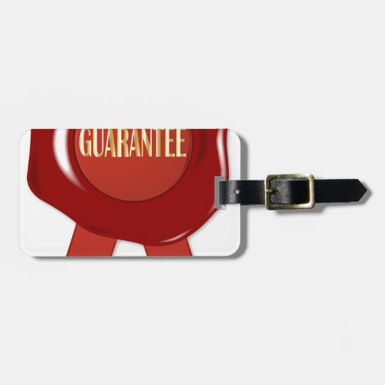 Wax Stamp Guaranree Luggage Tag