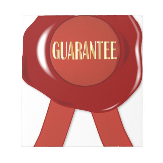 Wax Stamp Guaranree Notepad