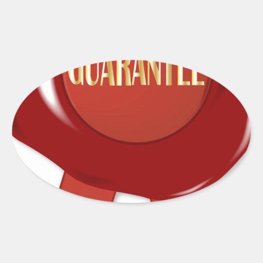 Wax Stamp Guaranree Oval Sticker