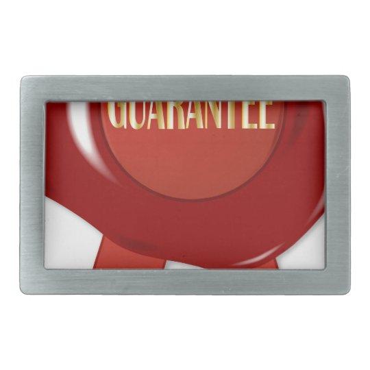 Wax Stamp Guaranree Rectangular Belt Buckle