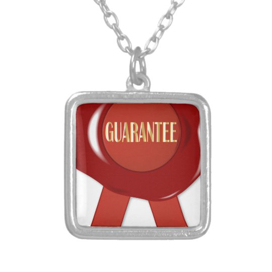 Wax Stamp Guaranree Silver Plated Necklace