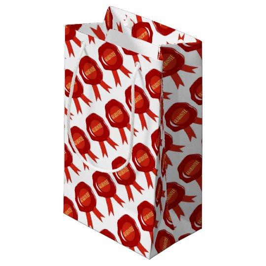 Wax Stamp Guaranree Small Gift Bag