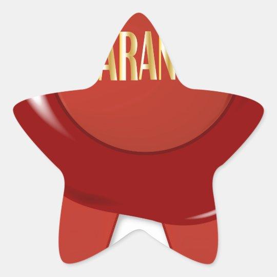 Wax Stamp Guaranree Star Sticker