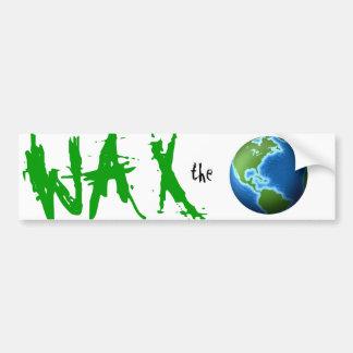 Wax the World Surf Skate Brand Bumper Sticker