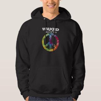 Waxed Tie-Dye Peace Hoodie