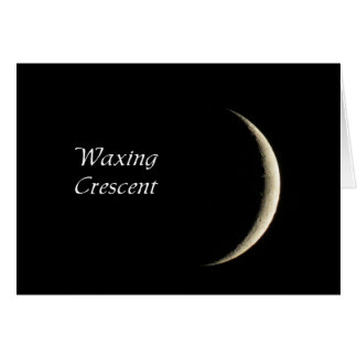 Waxing Crescent Moon Phase Card