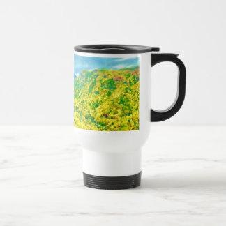 Way Above The Mountains Air Brushed Travel Mug