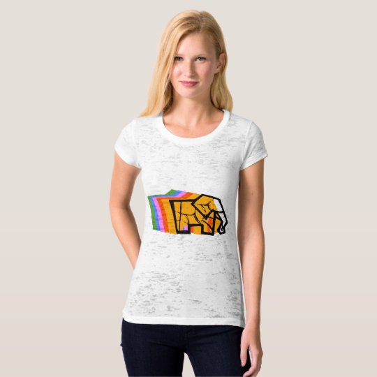 Way Back Ele / Women's Canvas Fitted Burnout T-Shirt