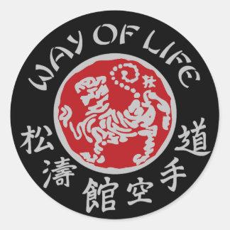 Way Of Life Shotokan Dark Logo Sticker