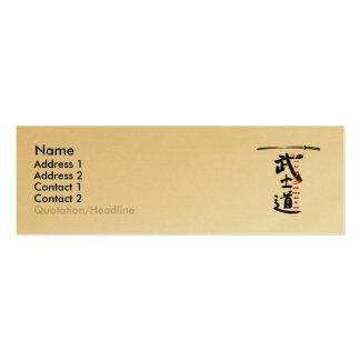 Way Of Samurai Profile Card Mini Business Card