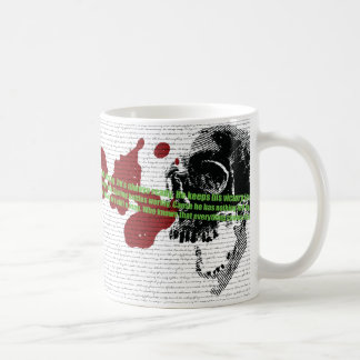 Way of the warrior poem wrap around coffee mug