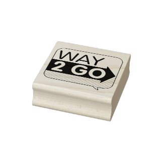 Way to Go Speech Bubble Rubber Art Stamp