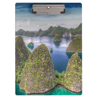 Wayag Island landscape, Indonesia Clipboards