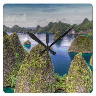 Wayag Island landscape, Indonesia Clocks