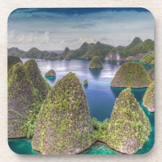 Wayag Island landscape, Indonesia Coasters