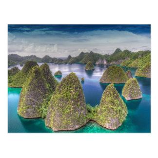 Wayag Island landscape, Indonesia Postcard
