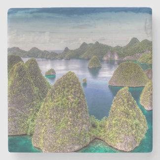 Wayag Island landscape, Indonesia Stone Coaster