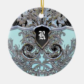 Waydhill Brooke Victorian Monogram Ceramic Ornament