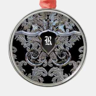 Waydhill Exquisite Victorian Monogram Metal Ornament