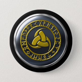 Wayfarers Guild Runic Bronze Warrior 3 Inch Round Button
