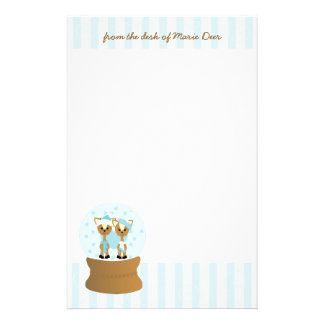 Wayne and Marie Deer Stationery