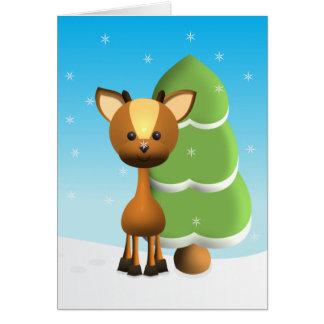 Wayne Deer in the Snow Card