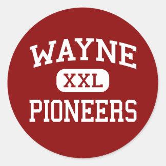 Wayne - Pioneers - Middle - Wayne West Virginia Round Sticker