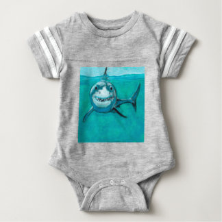 """Wayne"" The Great White Shark Baby Bodysuit"