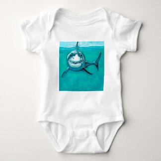 """Wayne"" The Great White Shark Baby Bodysuit"