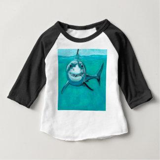 """""""Wayne"""" The Great White Shark Baby T-Shirt"""
