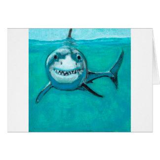 """Wayne"" The Great White Shark Card"