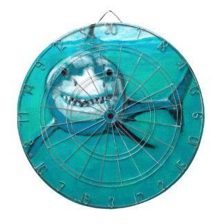 """Wayne"" The Great White Shark Dartboard"