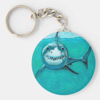 """Wayne"" The Great White Shark Keychain"