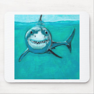 """Wayne"" The Great White Shark Mouse Pad"
